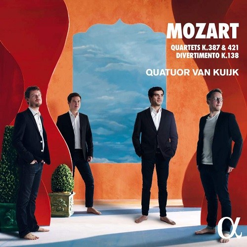 ALPHA551_3760014195518_MOZART_quartetti_Quartetto Van Kuijk